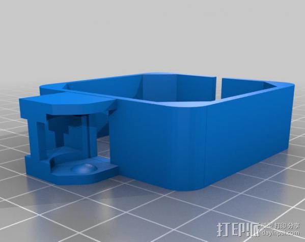 步进马达电缆锚链 3D模型  图2