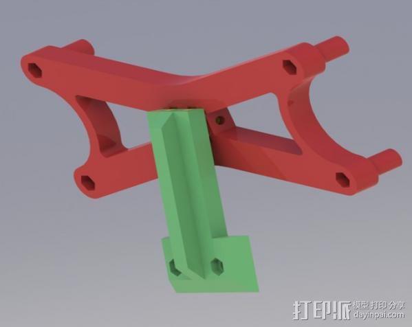液晶显示屏支架 3D模型  图3