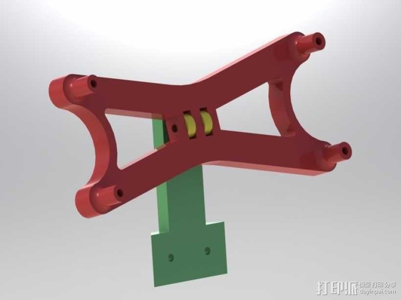 液晶显示屏支架 3D模型  图1