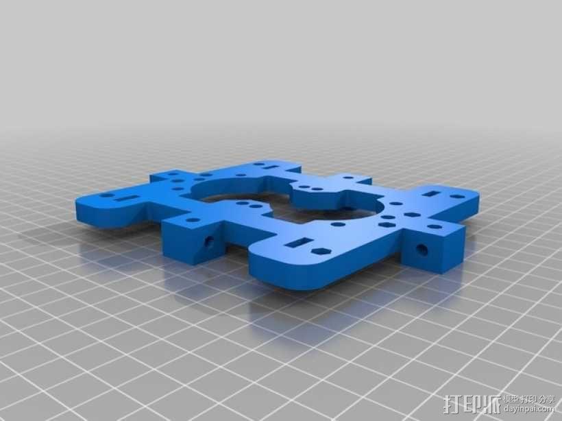 LM8UU轴承支架 皮带固定器  3D模型  图2