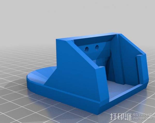 挤出机风扇罩 3D模型  图2