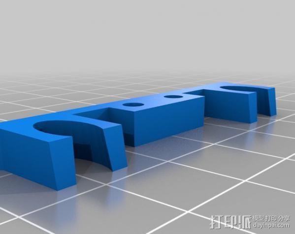 挤出机风扇罩 3D模型  图3