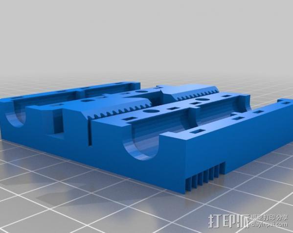 GT2 皮带固定器 3D模型  图3