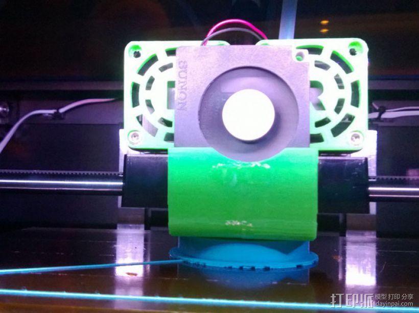 Replicator 2X打印机风扇通风导管 3D模型  图3