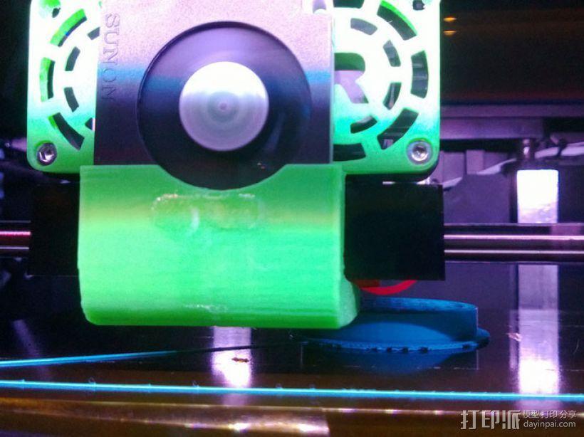 Replicator 2X打印机风扇通风导管 3D模型  图6