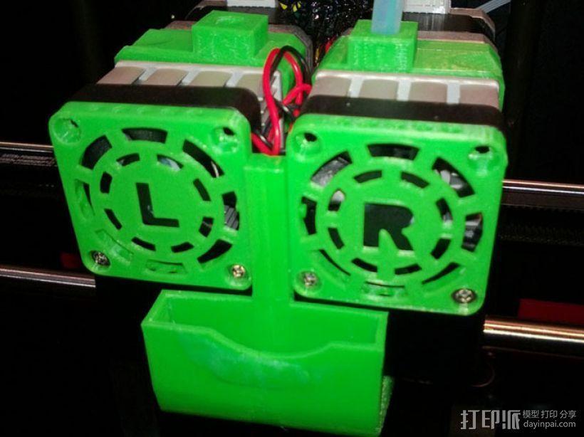 Replicator 2X打印机风扇通风导管 3D模型  图13