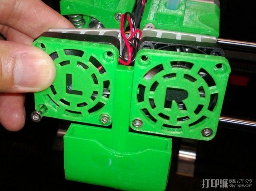 Replicator 2X打印机风扇通风导管 3D模型  图14
