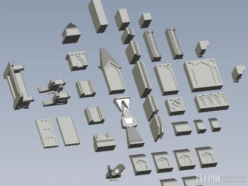 哥特式建筑 3D模型  图1