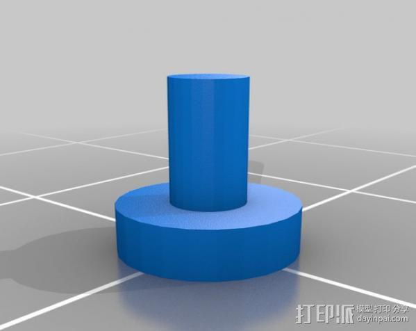 智能控制器旋钮 3D模型  图2