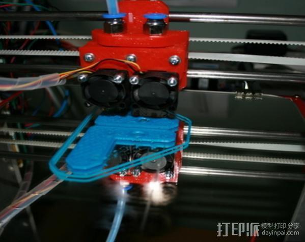 JHead 喷头支架 3D模型  图1