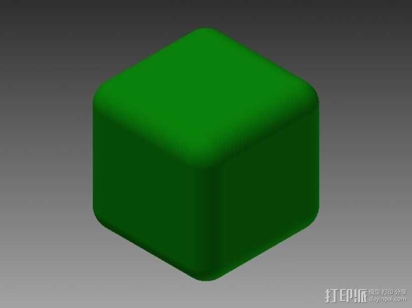 几何方块 3D模型  图1