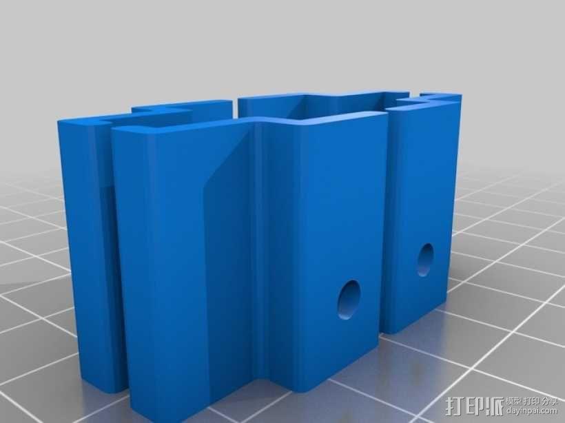 玻璃板支撑固定器 3D模型  图2