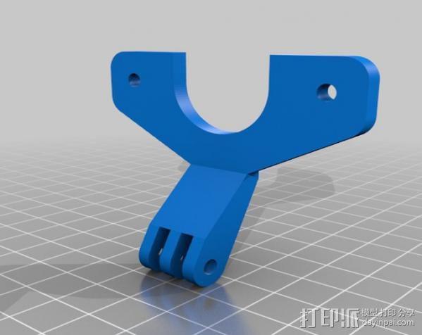 风扇通风导管 风扇支架 3D模型  图2