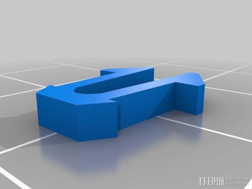 别针 拐角器 3D模型  图2
