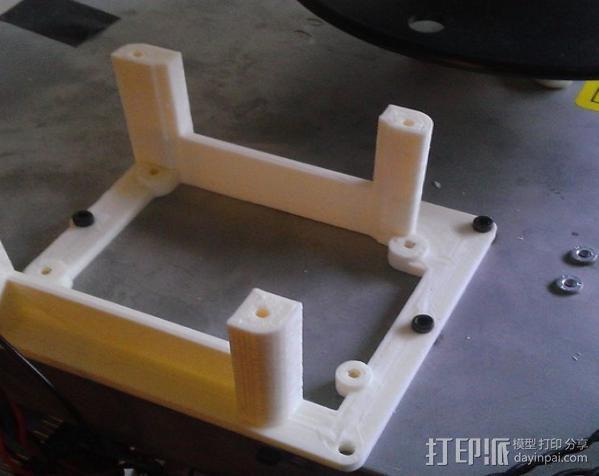 电路板保护框  3D模型  图2