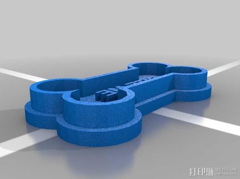 狗骨头饼干切割器 3D模型  图2
