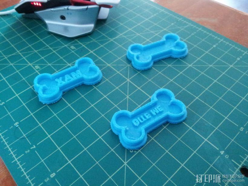 狗骨头饼干切割器 3D模型  图3