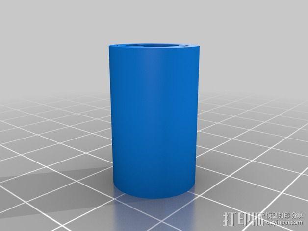 LM8UU & LM10UU线性轴承支架 3D模型  图2