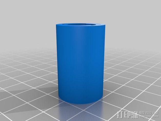 LM8UU & LM10UU线性轴承支架 3D模型  图3