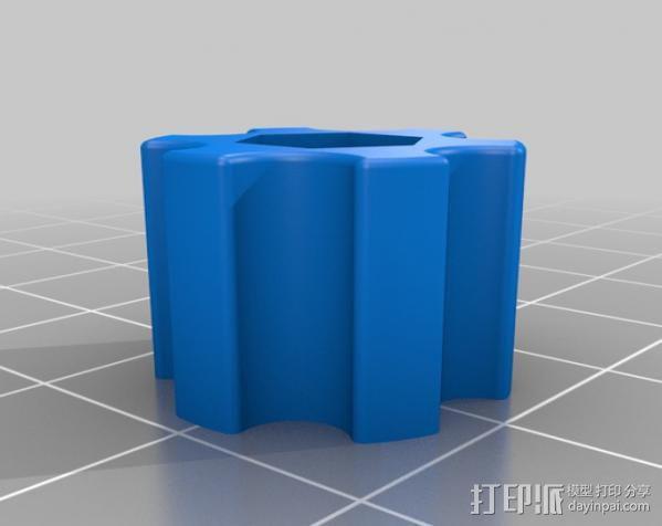 打印床调节旋钮 3D模型  图3