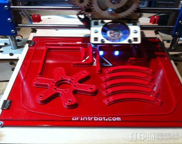 打印床调节旋钮 3D模型  图6