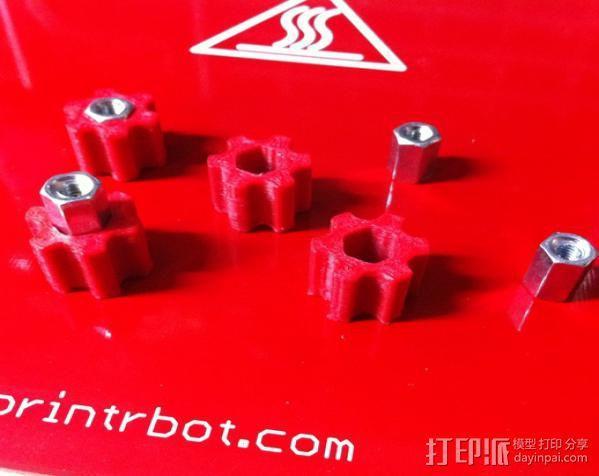 打印床调节旋钮 3D模型  图4