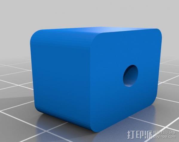 鲍登挤出机送料管 线材固定器 3D模型  图2