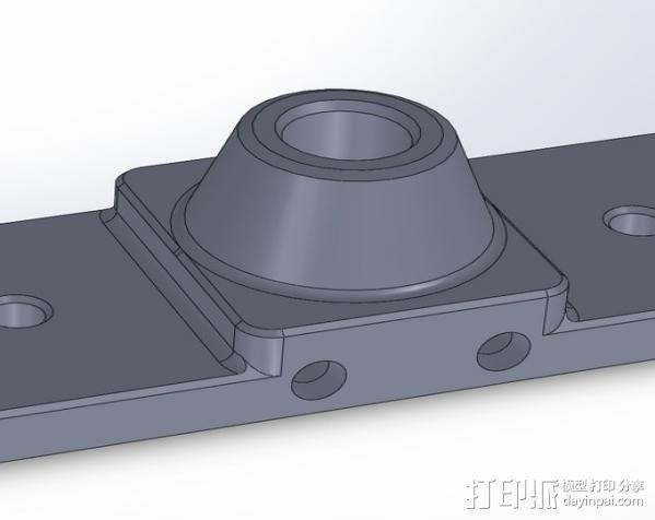 鲍登挤出机送料管 线材固定器 3D模型  图3