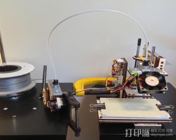 鲍登挤出机送料管 线材固定器 3D模型  图8