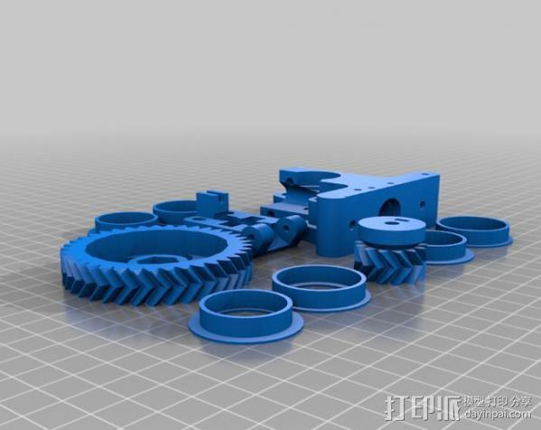 prusa i3打印机打印床套件 3D模型  图2