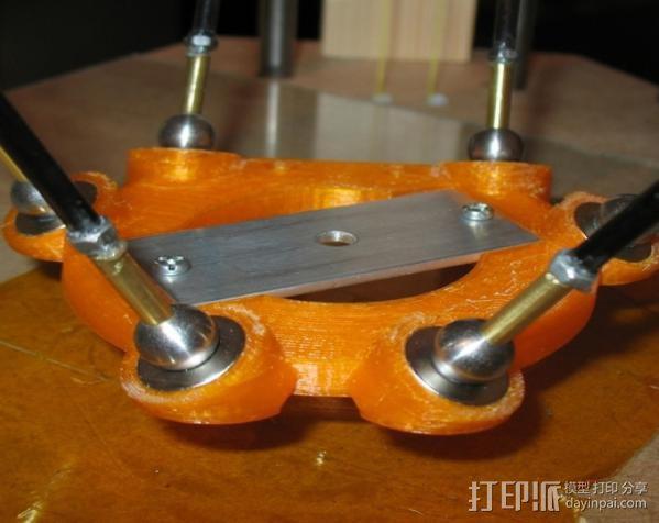 delta 式打印机磁力效应器 3D模型  图3
