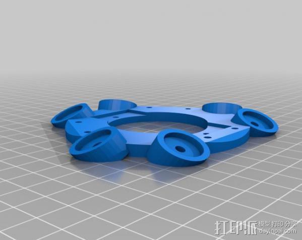 delta 式打印机磁力效应器 3D模型  图2