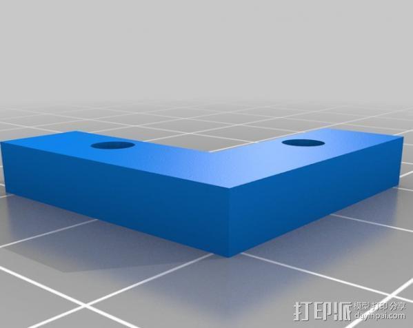玻璃板固定器 3D模型  图1