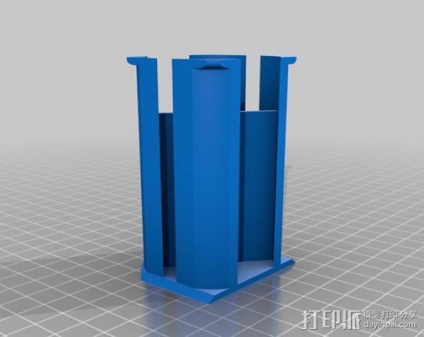 通用式线轴支架 3D模型  图8