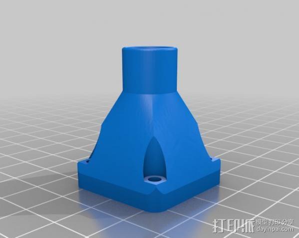 风扇通风导管 3D模型  图2