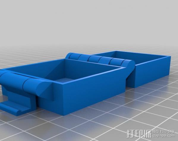 小扣盒 盒子 3D模型  图2