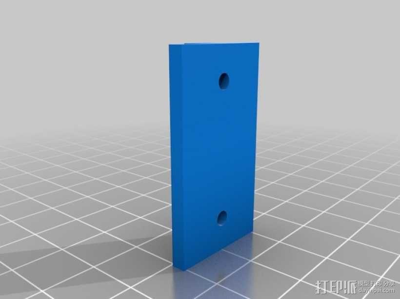 铝制轴杆滑块 3D模型  图2