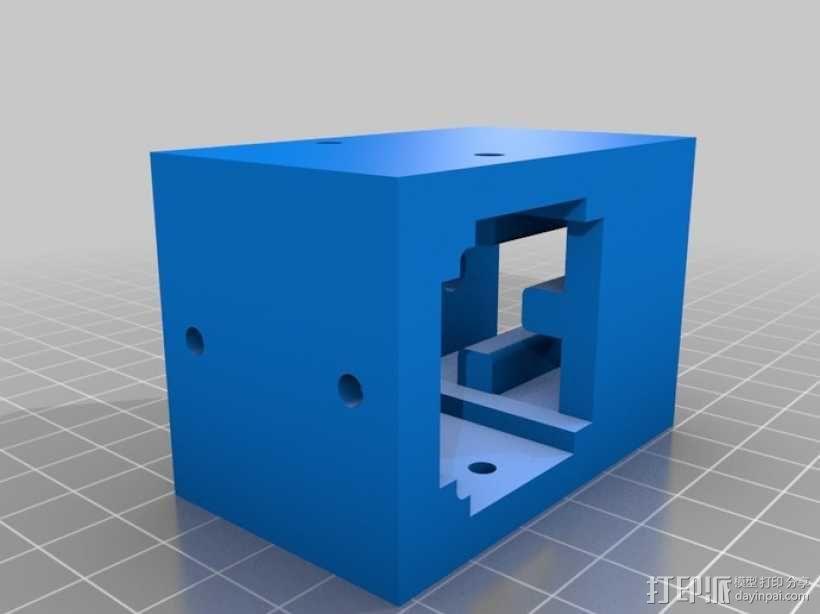 铝制轴杆滑块 3D模型  图3