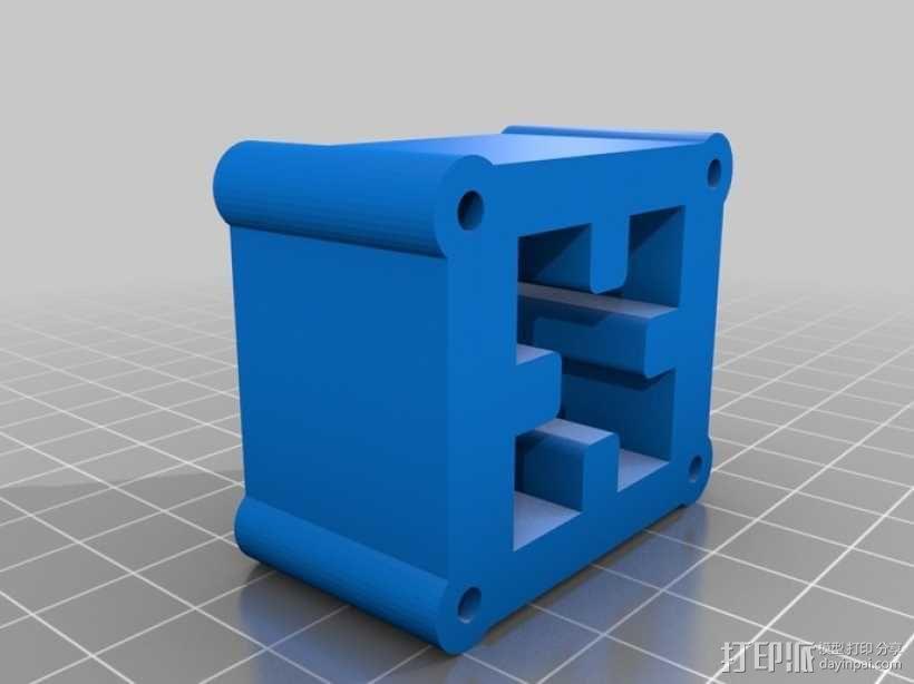 铝制轴杆滑块 3D模型  图4