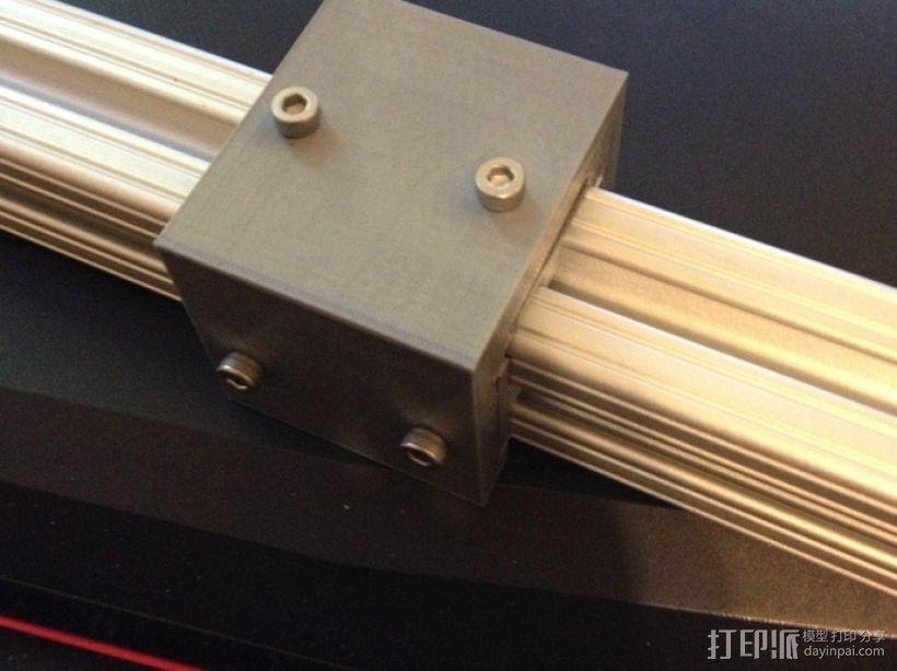 铝制轴杆滑块 3D模型  图6