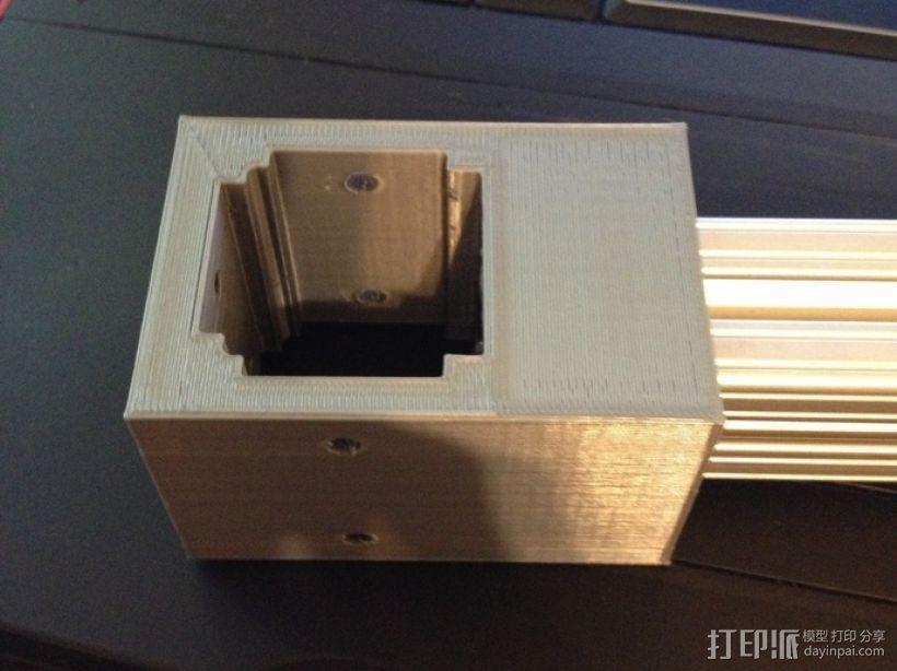 铝制轴杆滑块 3D模型  图7