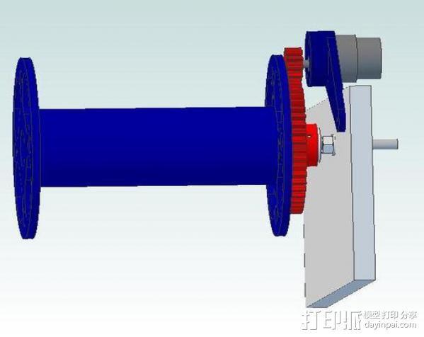 卷线器 线材卷 3D模型  图18