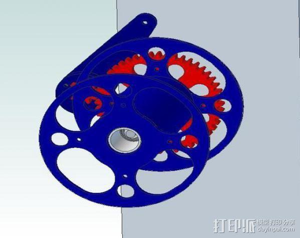 卷线器 线材卷 3D模型  图19