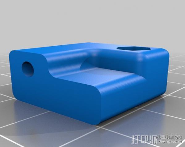 Prusa i3打印机限位开关调节器 3D模型  图2
