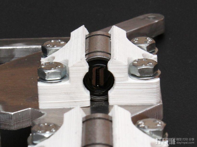 LM8UU轴承支架 3D模型  图1