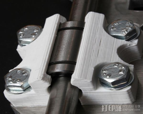 LM8UU轴承支架 3D模型  图2