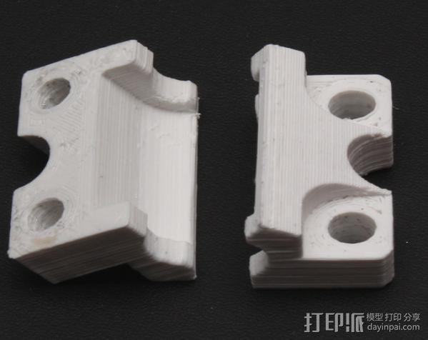 LM8UU轴承支架 3D模型  图3