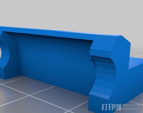 LM8UU轴承支架 3D模型  图4