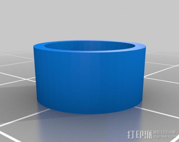 LM8UU轴承支架 3D模型  图6