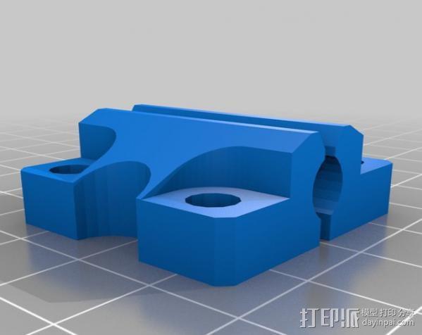 LM8UU轴承支架 3D模型  图5